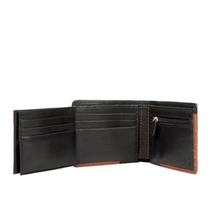364-L103 Bi-Fold Wallet (Black/Tan)