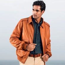 Load image into Gallery viewer, CRUISE LAMB MENS LEATHER JACKET