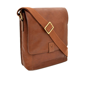 Aiden 02 Leather Crossbody Bag (Tan)