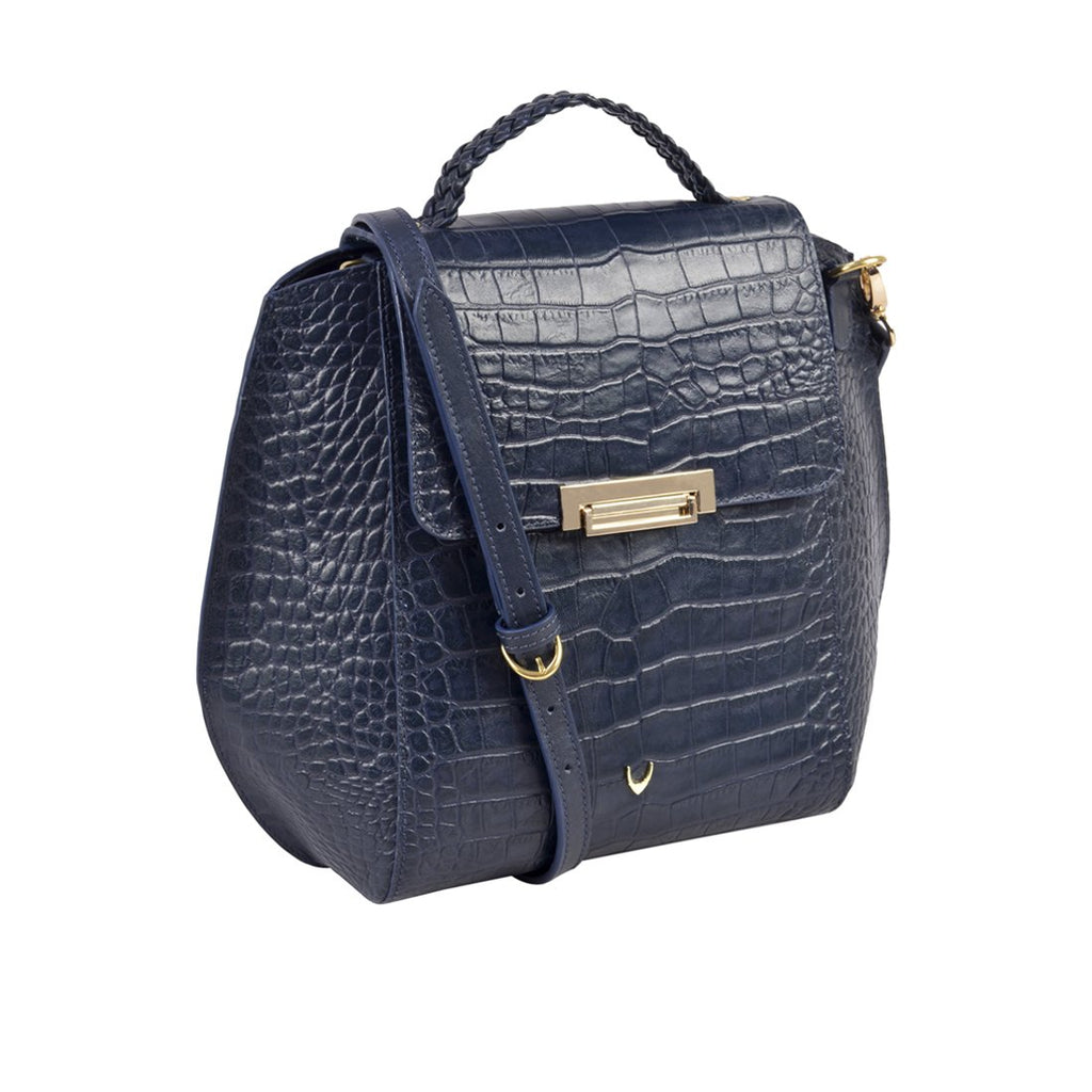 Alive 03 Leather Crossbody (Blue)
