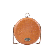 Load image into Gallery viewer, Luxury Ostrich Leather Ardenne Shoulder Bag (Tan)
