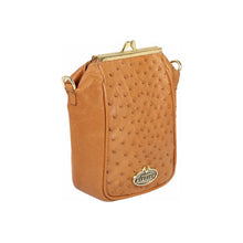 Load image into Gallery viewer, Luxury Ostrich Leather Argonne Crossbody (Tan)