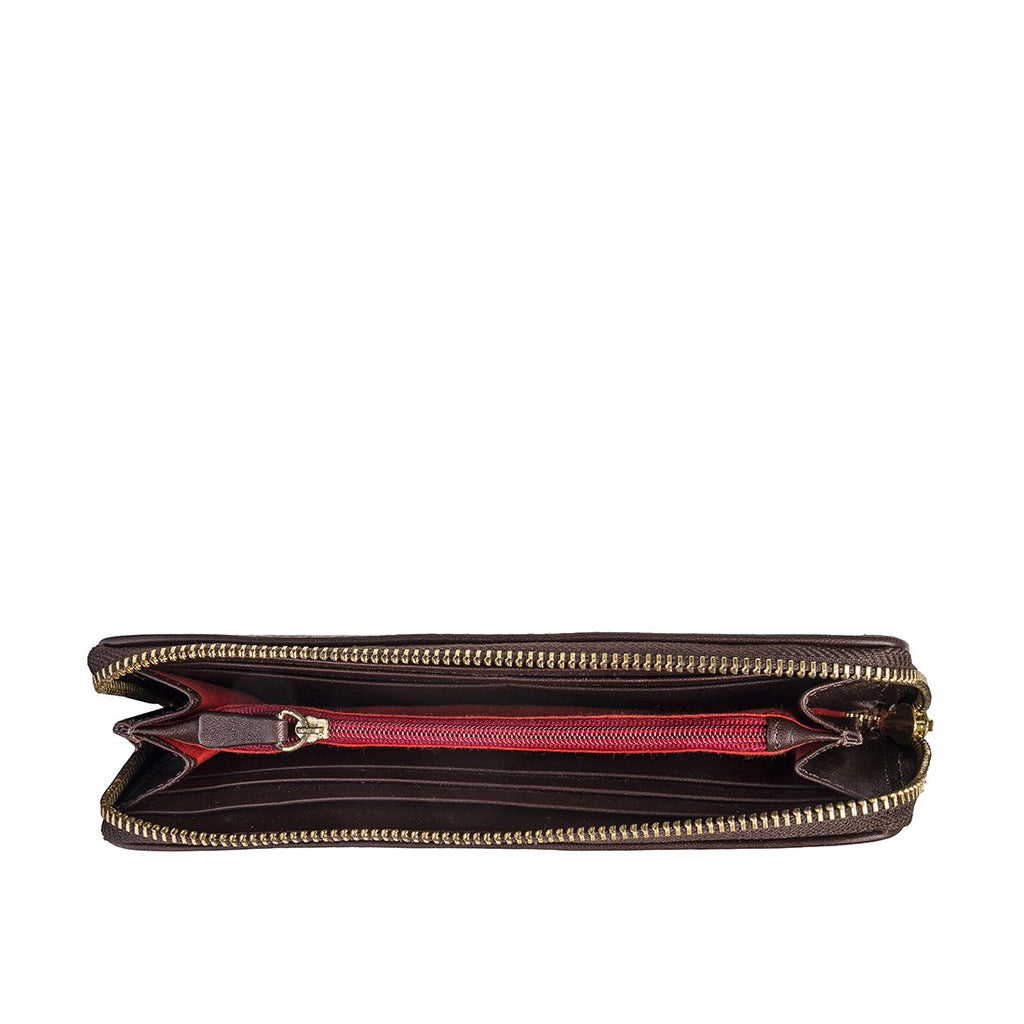 Ascot W1 Zip-Around Wallet (Brown)