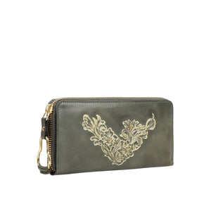 PEARL HART W1 ZIP AROUND WALLET