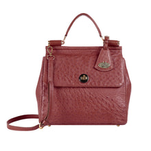 Load image into Gallery viewer, Luxury Ostrich Leather Sezanne Bag (Marsala)
