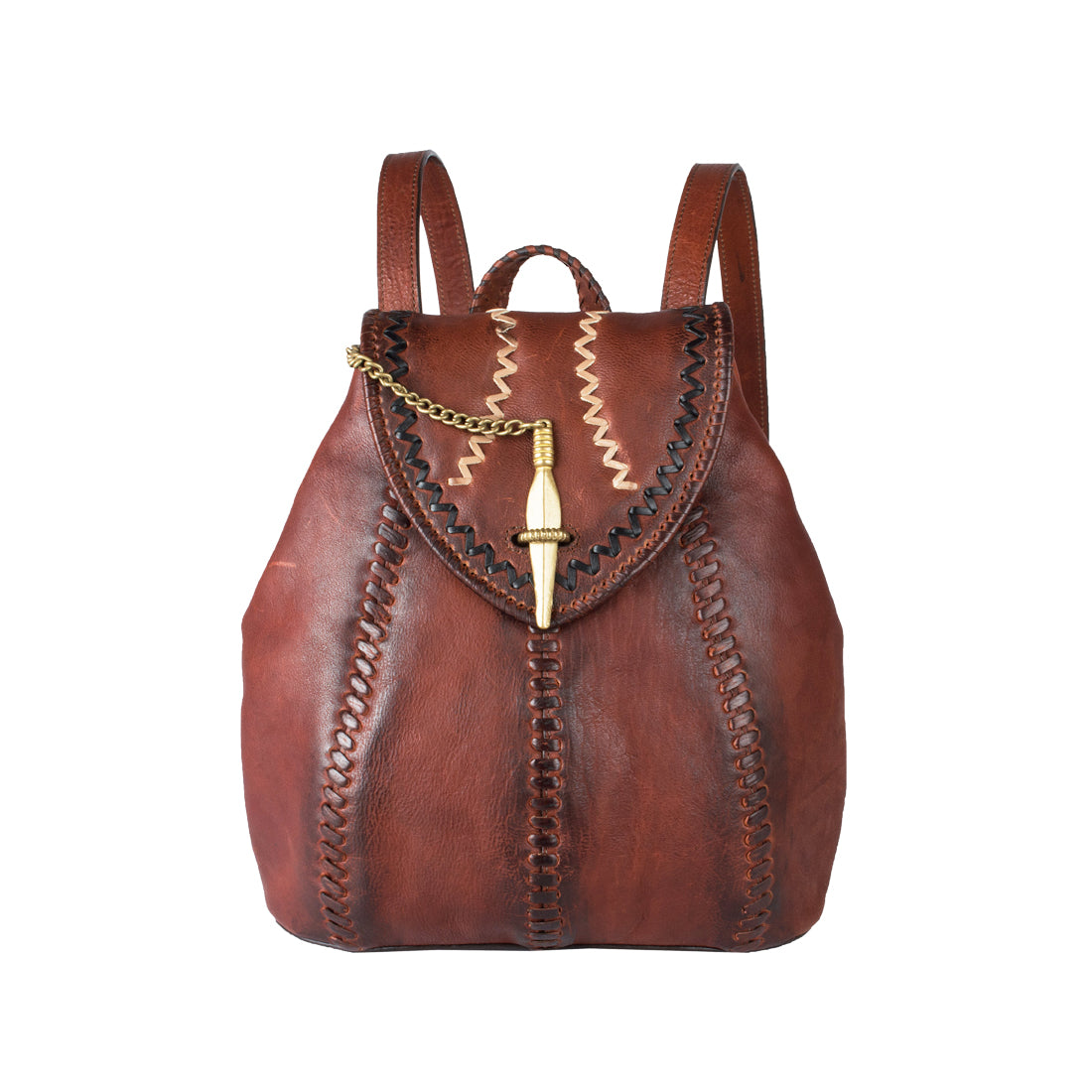 Swala 03 Leather Backpack (Brown)