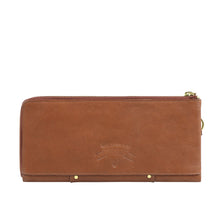 Load image into Gallery viewer, Wild Rose W3 L-Zip Wallet (Tan)