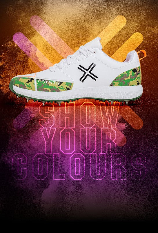 PAYNTR-X CAMO CRICKET SHOE
