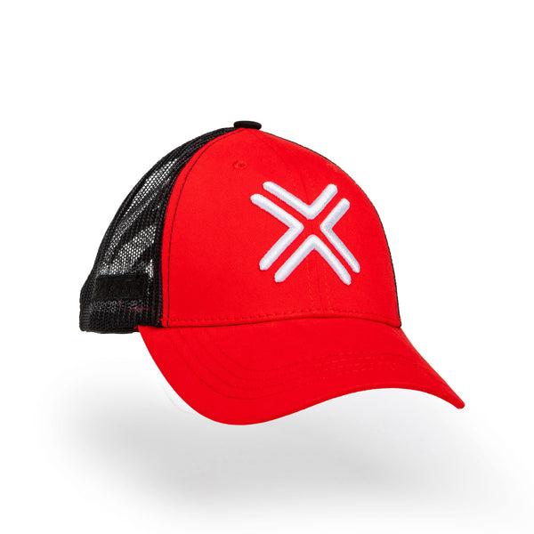 PAYNTR Adult Trucker Cap - Red/Black