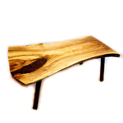 American walnut live edge coffee table