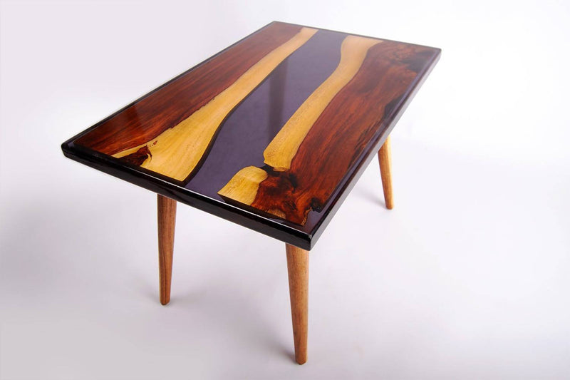 Asersus black epoxy coffee table