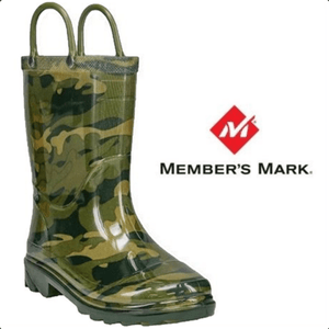Member's Mark Light Up Camo Rain Boot for Boys, 9/10 - MGworld