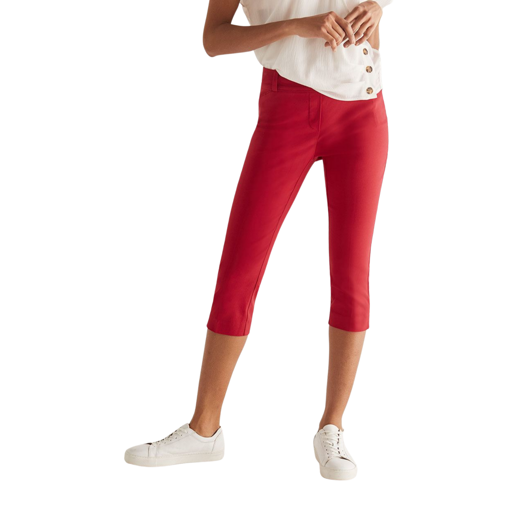 The Iconic Red Reitmans Pull On Cropped Pants, Size 20 - MGworld