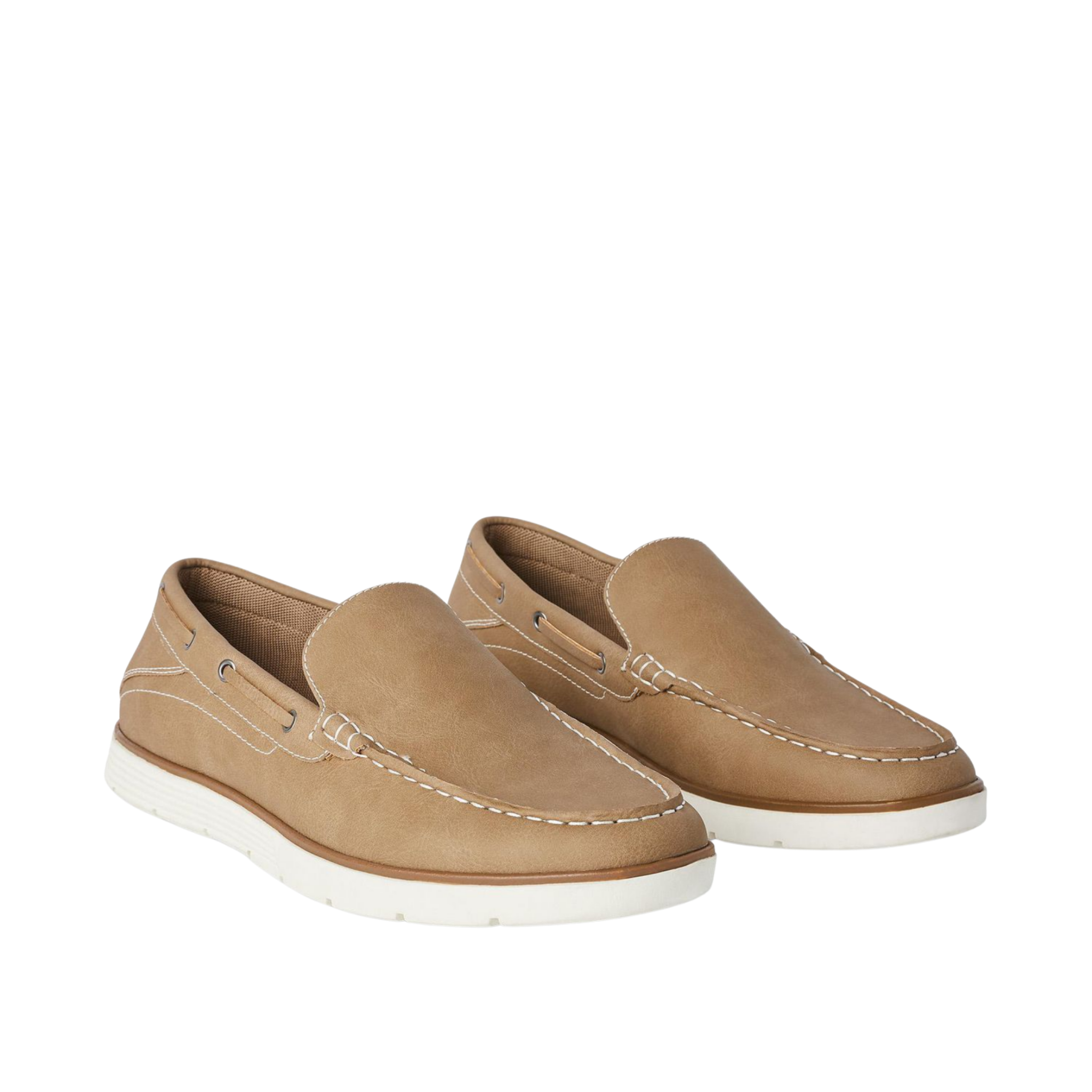 George Men's Tan Sean Boat Shoes, 9 US, 42 EU - MGworld