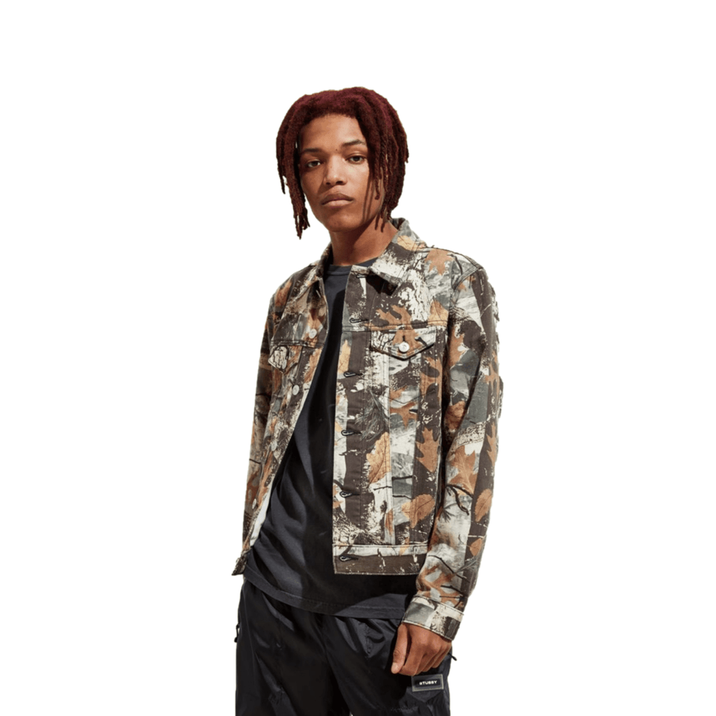 BDG Camo Print Denim Trucker Jacket, Small - MGworld