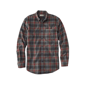 L.L.Bean Men's Scotch Plaid Flannel Button-down Collar Shirt, Large - MGworld