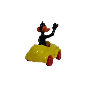 1989 Vintage Warner Bros Looney Tunes Daffy Duck in Yellow Plastic Toy Car Vehicle. Sealed - MGworld