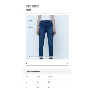 The Skinny ZW Premium Blue Jeans by Zara, 2 US | 34 EU | 6 UK - MGworld