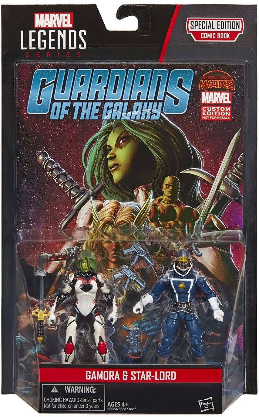 Marvel Legends Series Guardians of the Galaxy Gamora and Star-Lord Action Figures 3.75 Inches - MGworld