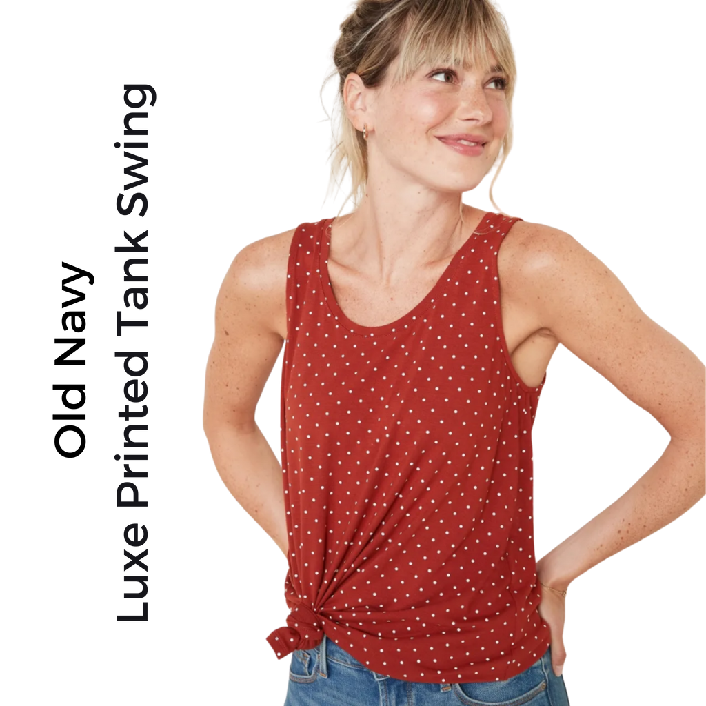 Old Navy Luxe Printed Swing Tank for Women | Medium - MGworld