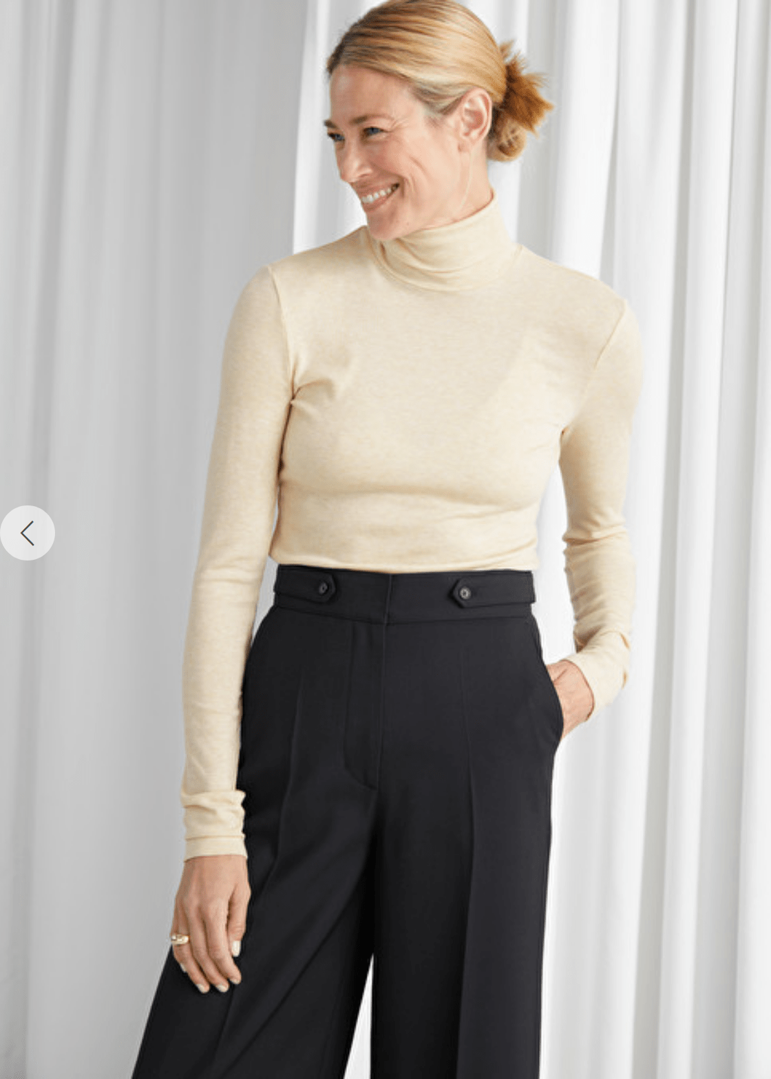 Stockholm Atelier Fitted Lyocell Ribbed Turtleneck - MGworld