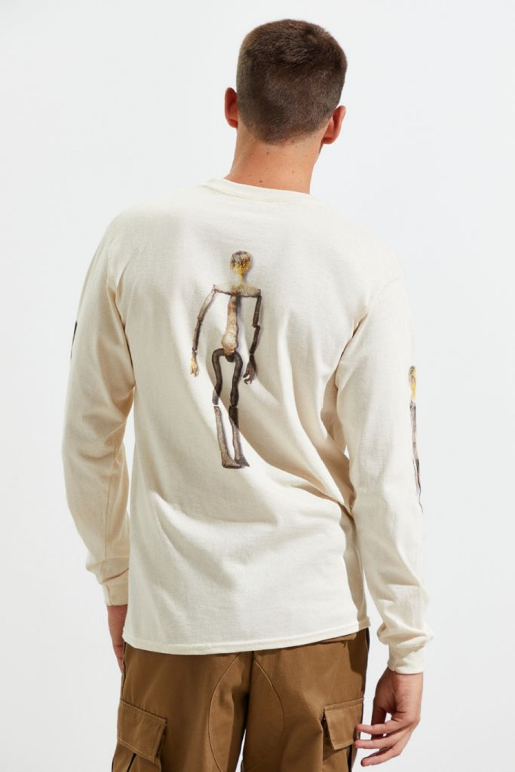 "Kurt Cobain ""Kurt Was Here"" Skeleton Long Sleeve Tee, Medium - MGworld"