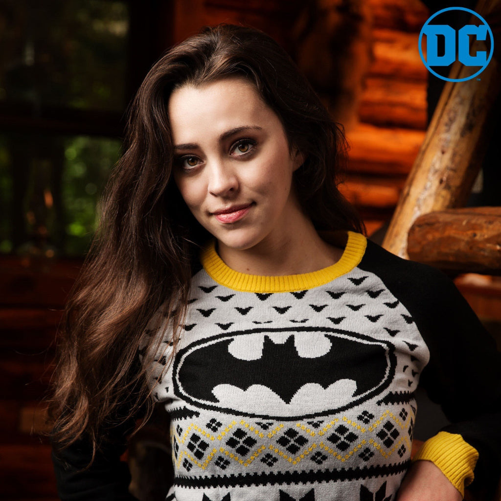 Fun Batman Women's Ugly Christmas Sweater DC Comics, Small - MGworld