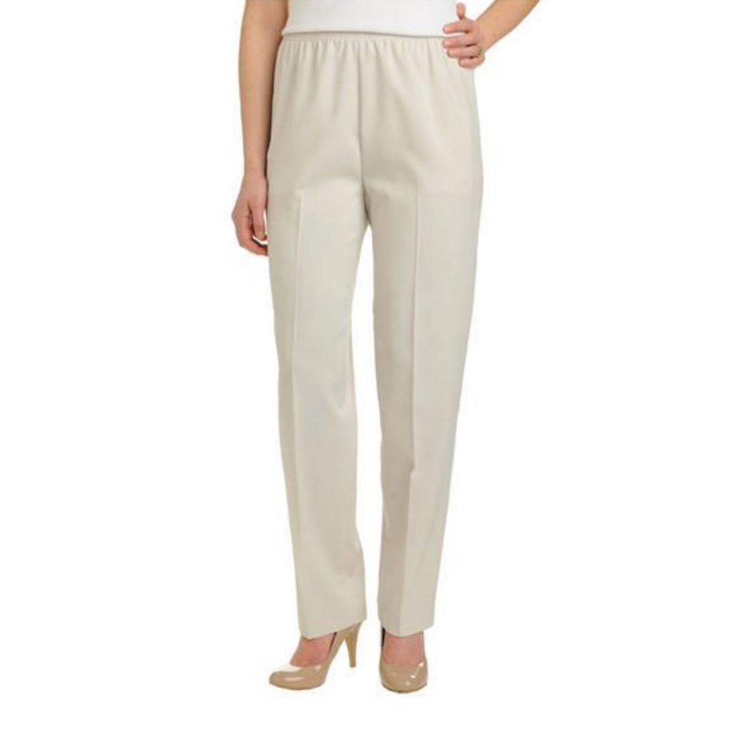 Alia Petite Classic Pull On Straight Pants - MGworld