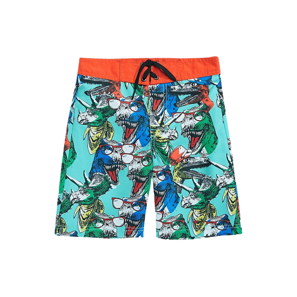 Skechers Surf Little Boy's Dino-Print Swim Trunk | Size 10/12 - MGworld