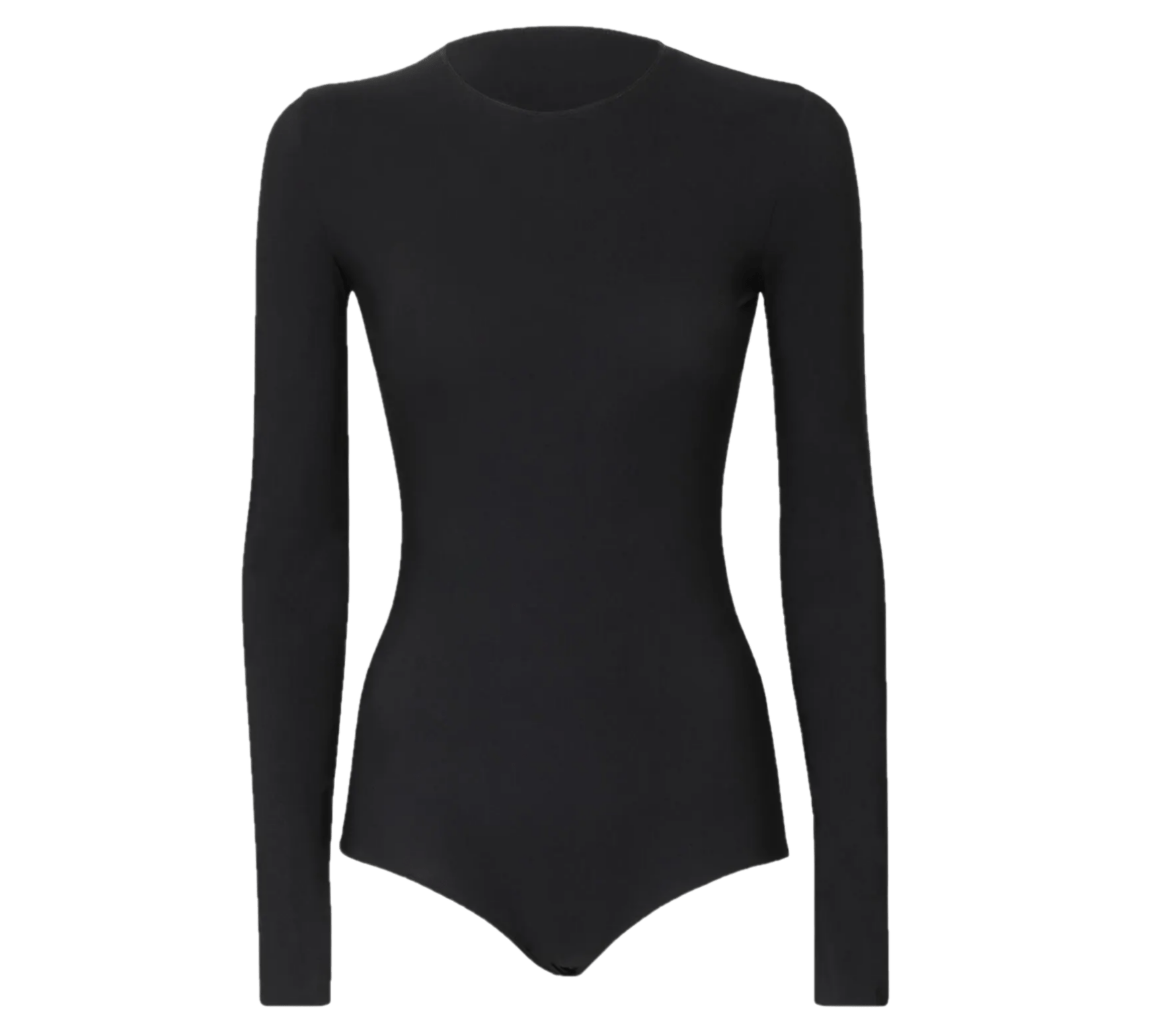 CMZ2005 Women's Basic Solid Bodysuit Leotard Top Long Sleeve Stretchy, Medium - MGworld