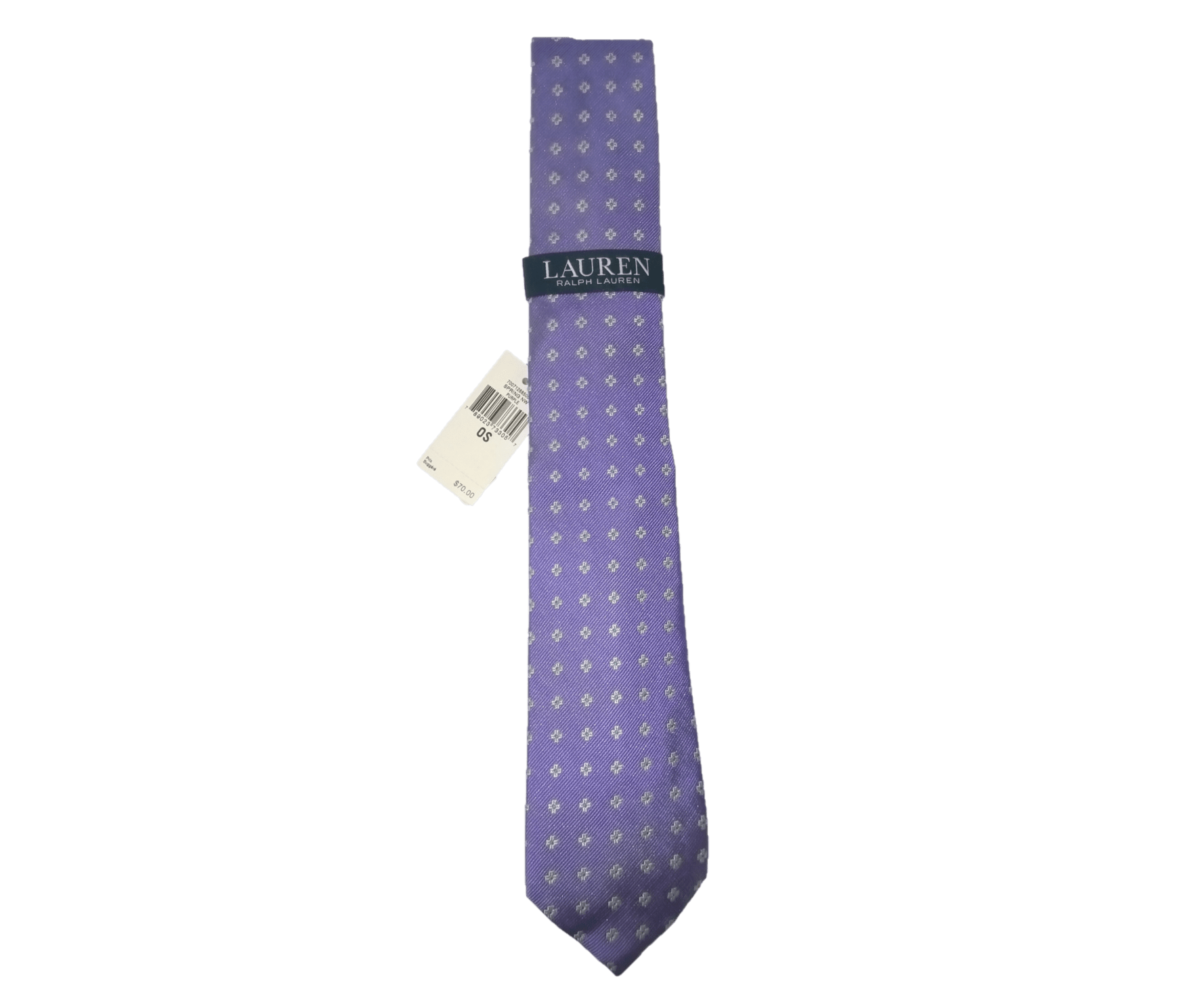 Ralph Lauren Spring Purple Label Necktie, Front Folded
