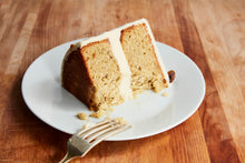 Load image into Gallery viewer, Pistachio Cardamom Cake + Honey Buttercream (Gluten-Free)