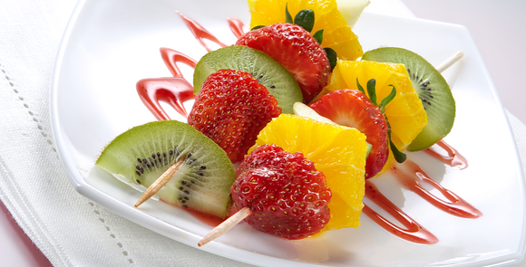 Mixed Fruit Kebabs