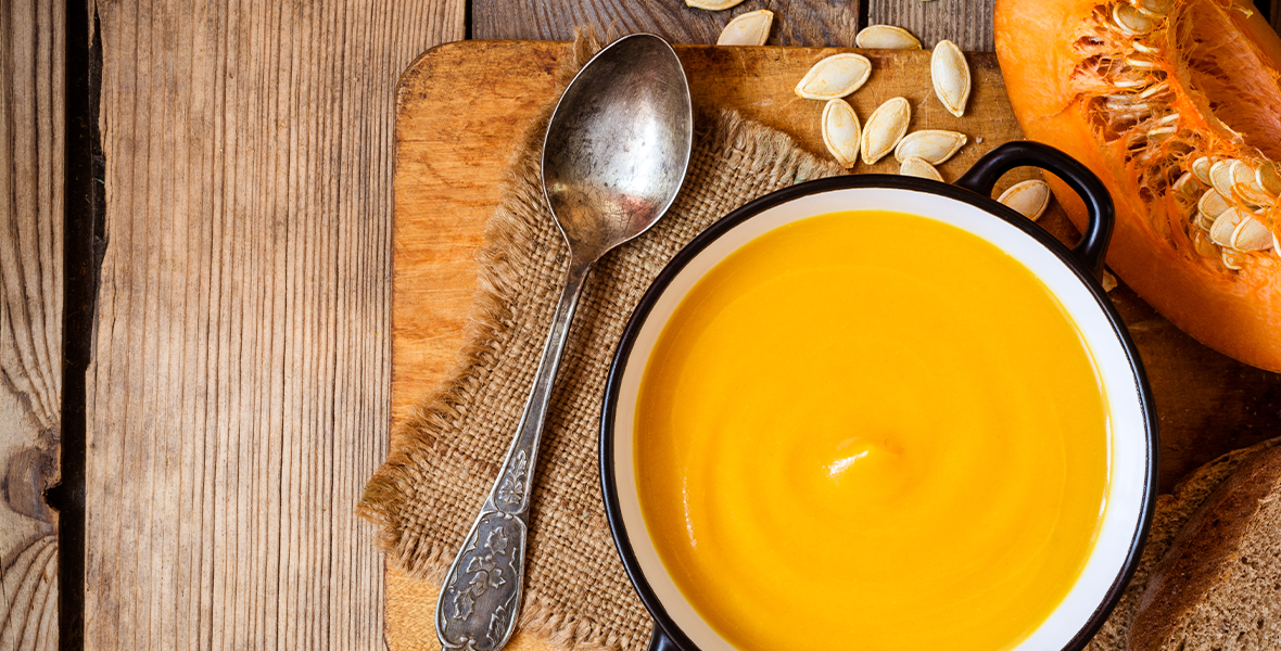 bowl-of-pumpkin-soup-on-table
