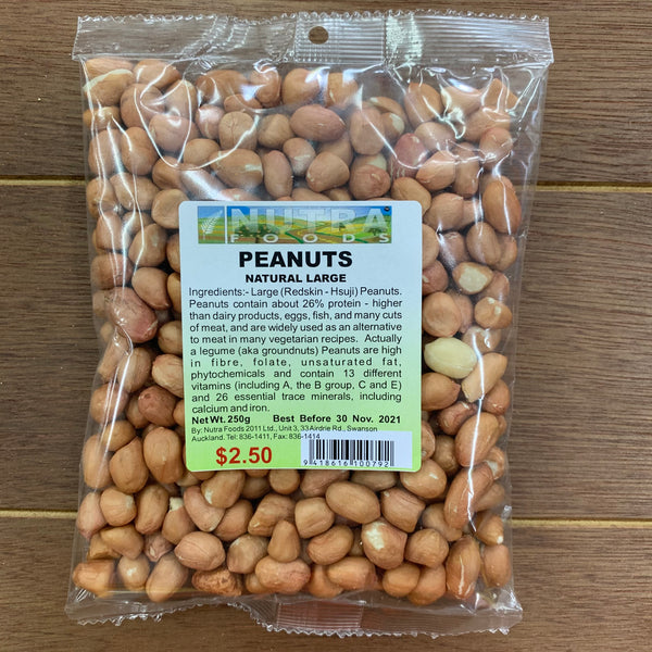 Peanuts Natural Large (Raw) 250g
