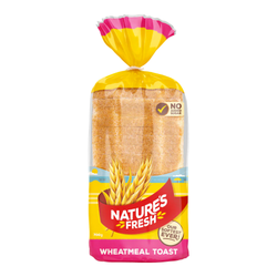 Bread Natures Fresh Wheatmeal Toast each