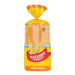 Bread Natures Fresh White toast each