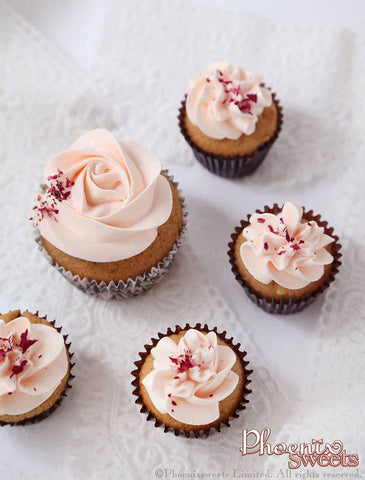 Phoenix Sweets Rose Earl Grey Cupcake
