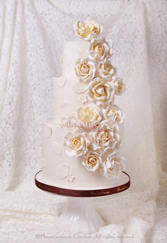 Phoenix Sweets - Wedding Cake White Sugar Rose