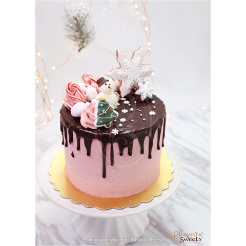 Phoenix Sweets 2016 Fairy Holiday Christmas Red Velvet Dripping Cake