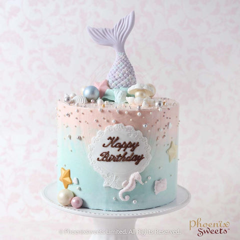 Phoenix Sweets Mermaid Cake 人魚蛋糕 生日 百日宴 Baby Shower 慶祝 香港 Hong Kong
