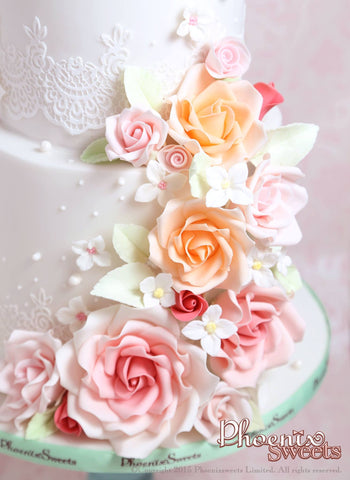 Phoenix Sweets Wedding Cake Sugar Flower Rose