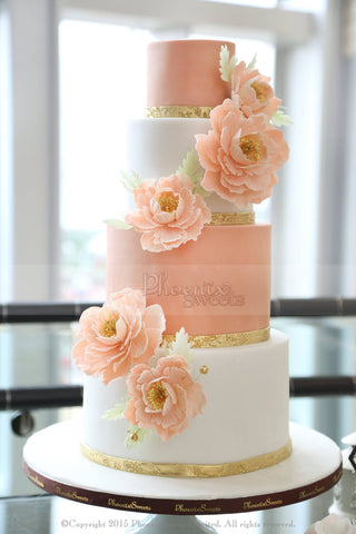 Phoenix Sweets - Wedding Cake Four Seasons Sugar Peony Flower