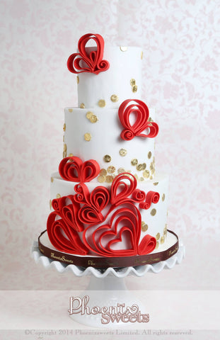 Phoenix Sweets - Wedding Double Happiness Cake Hong Kong Tailor-made 結婚蛋糕 中國風 香港 蛋糕設計師