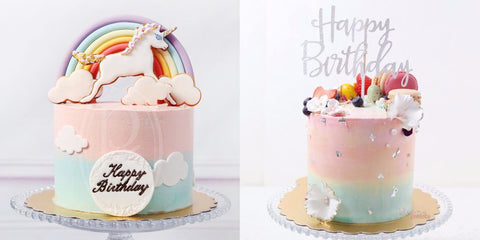 Phoenix Sweets Cotton Candy Rainbow Unicorn Birthday Cake