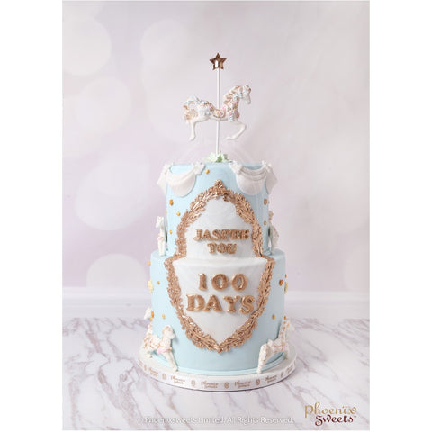 Phoenix Sweets 2 tier Carousel Birthday Cake