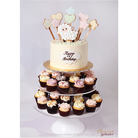 Phoenix Sweets Cupcake Tower Birthday Cake