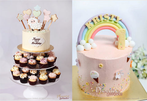 Phoenix Sweets Mini Cupcake Tower Rainbow Cake