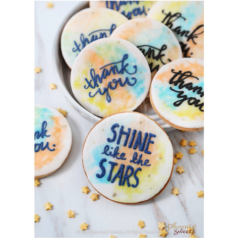 Phoenix Sweets - Water Colour Celebration Cookie