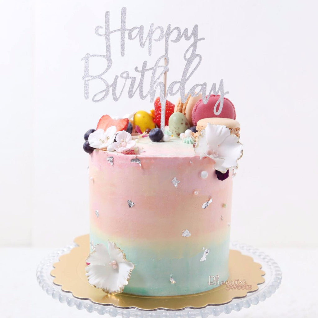 Cotton Candy Birthday Cake for Kid's Birthday and Baby Shower 立體 生日蛋糕 3D Cake